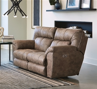 Catnapper Hollins Power Love Seat/ Coffee