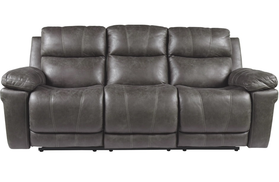 Erlangen Midnight Power Sofa W/Adj HD Rest