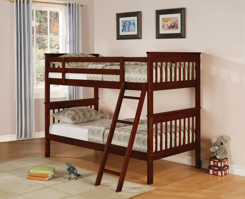 Cappuccino Finish Twin Over Twin Bunk Bed